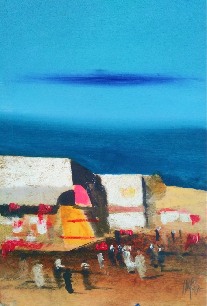 """Sharm El Sheik"" olio su tavola cm. 20x30"