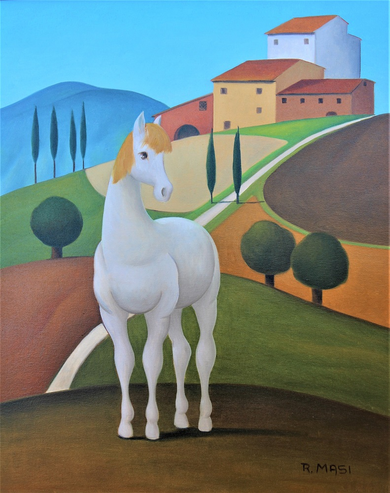 """""""Cavallo a Manciano"""" olio su tela cm. 40x50"""