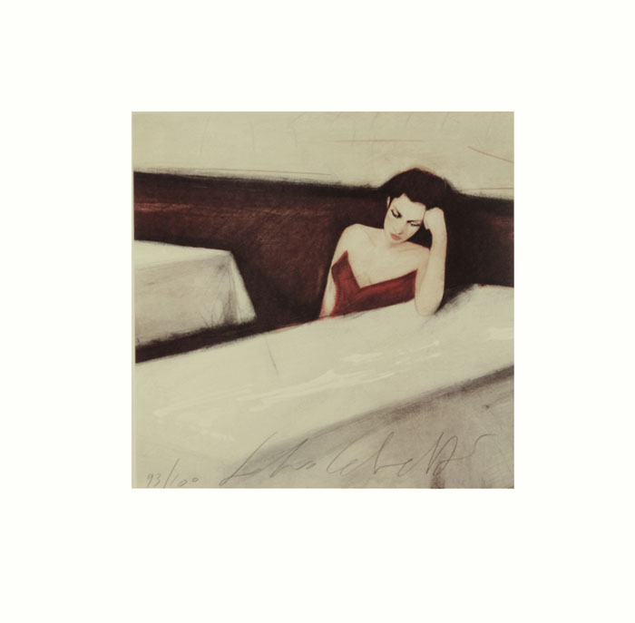 """""""Racconti della sera"""" litografia a 6 colori cm. 53x53"""