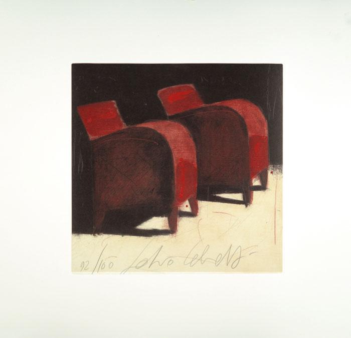 """""""Tanto lontano"""" litografia a 6 colori cm. 53x53"""