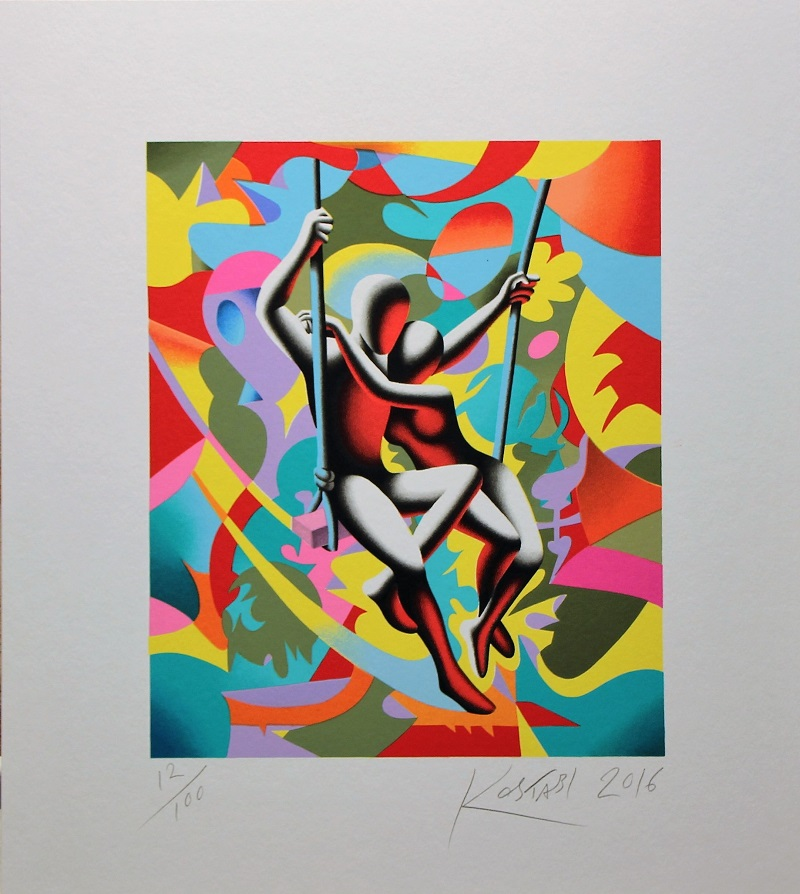"""Above and beyond"" serigrafia cm 44x39"