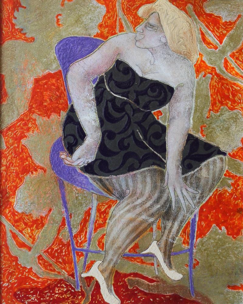 """""""Amorini"""" dipinto su tavola cm. 40x50  2008"""
