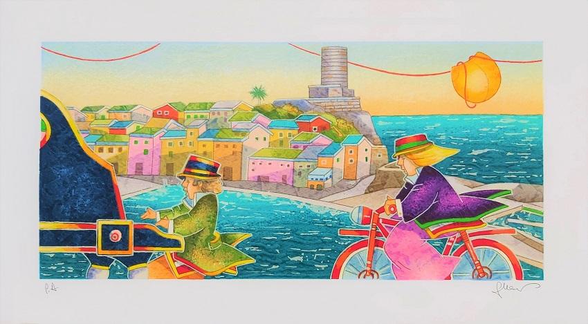 """""""Angolo di mare"""" serigrafia polimaterica cm. 25x45"""