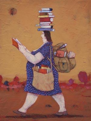 """""""Biblioteca da passeggio"""" disponibili nei formati  12x18  25x35  50x70"""