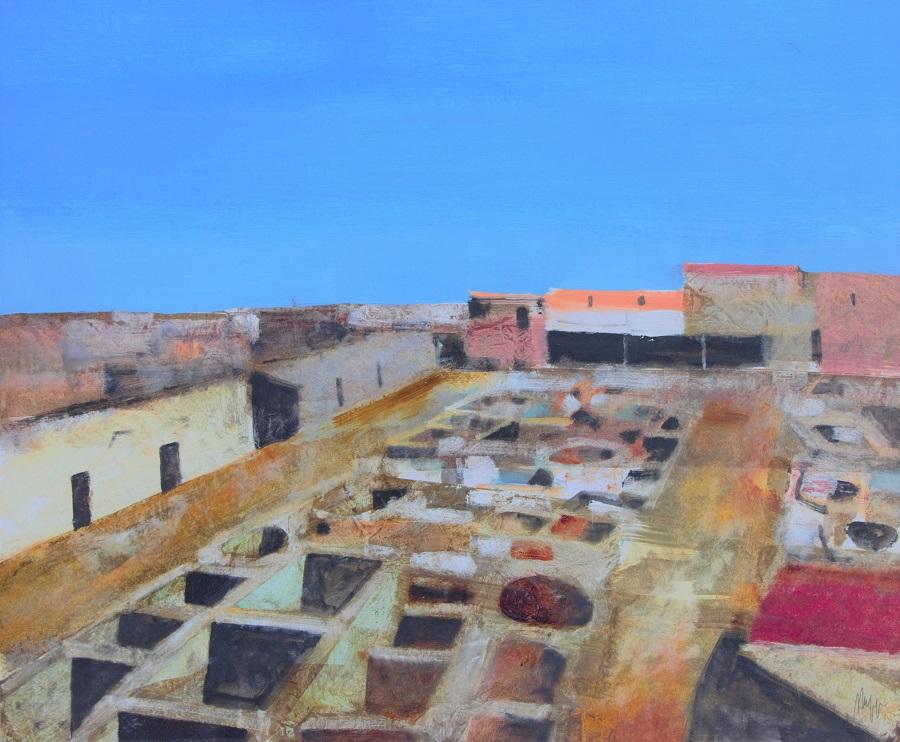 """Concerie a Marrakech"" olio su tavola cm. 50x60"