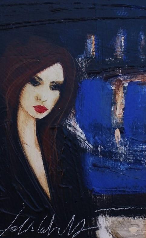 """""""Della parola cuore"""" dipinto su tavola cm. 30x20"""