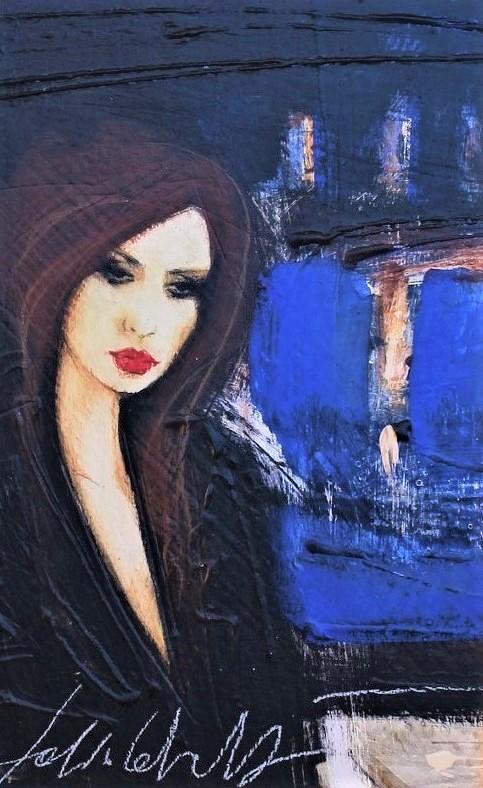 """""""Della parola cuore"""" dipinto su tavola cm. 20x30"""