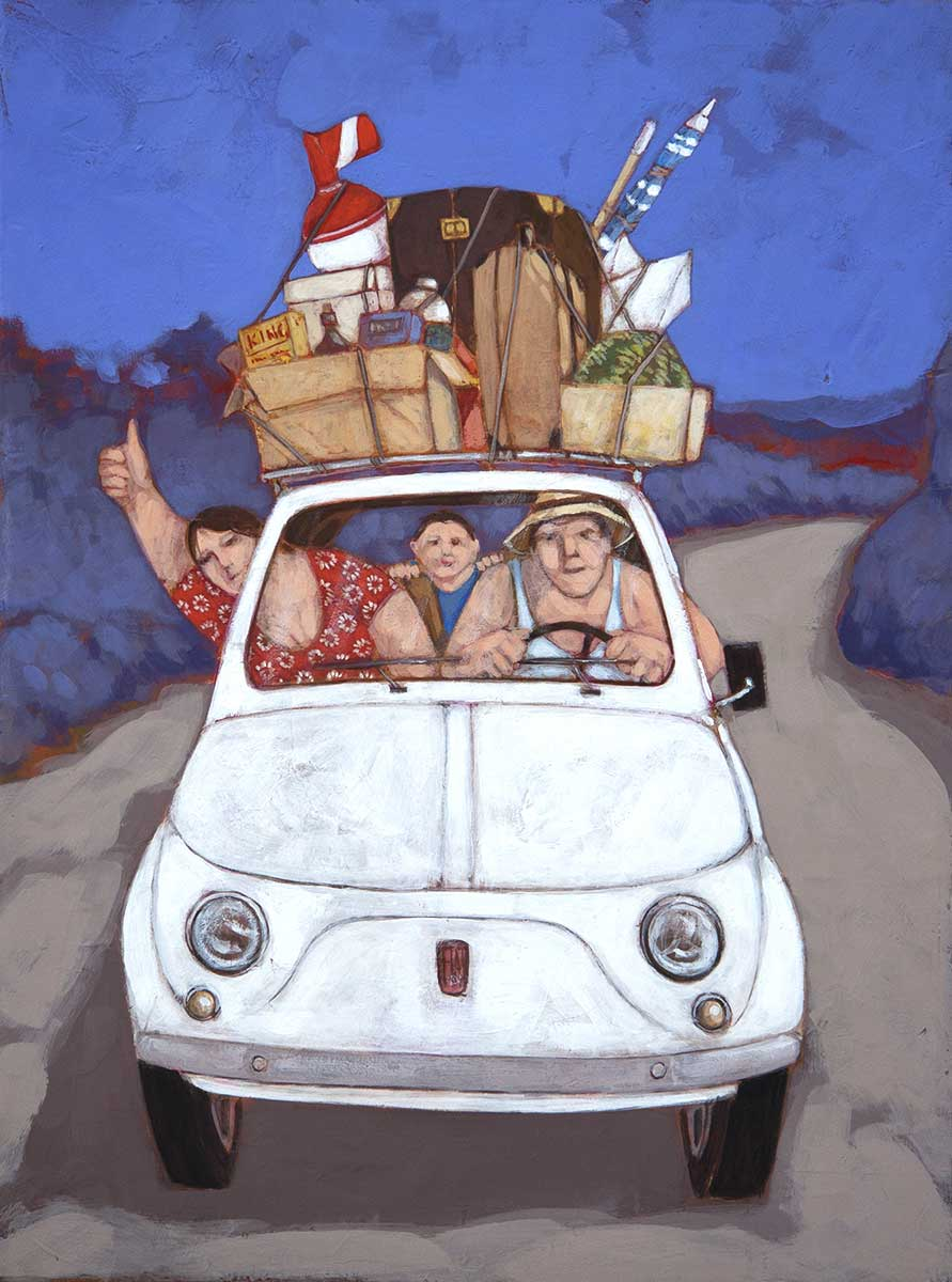 """Destinazione mare"" dipinto su tela cm. 30x40"