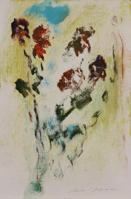 """""""Fiori"""" olio su tela cm. 20x30  1997"""