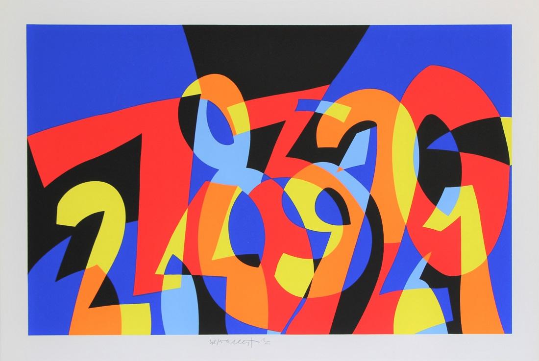 """""""I numeri si amano"""" serigrafia cm. 66x97,5"""