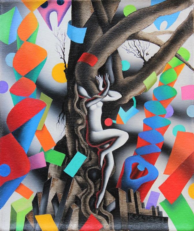 """Emotional entaglement"" dipinto su tela cm. 25x30"