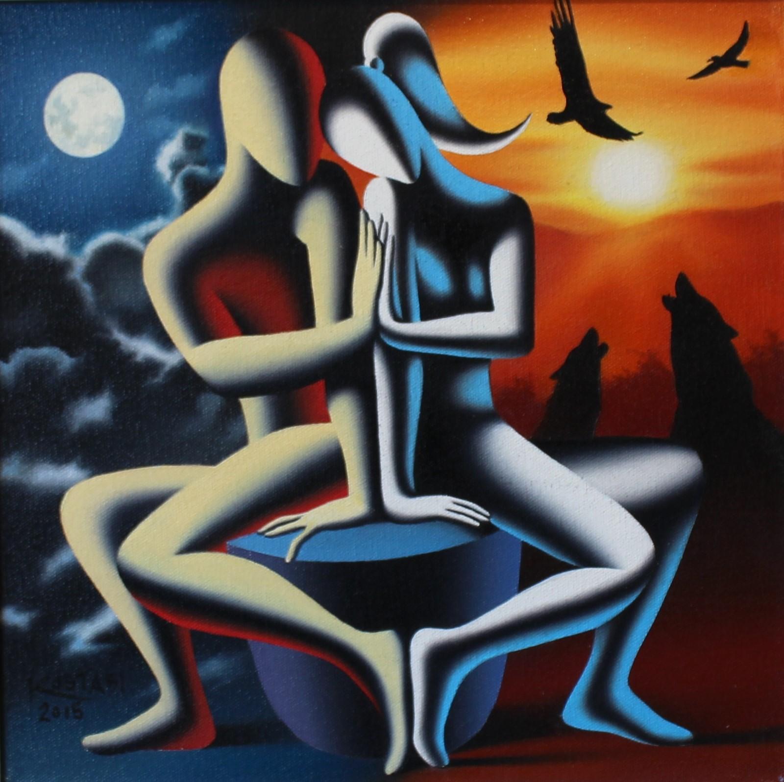 """""""Reconciliation"""" dipinto su tela cm. 30x30"""