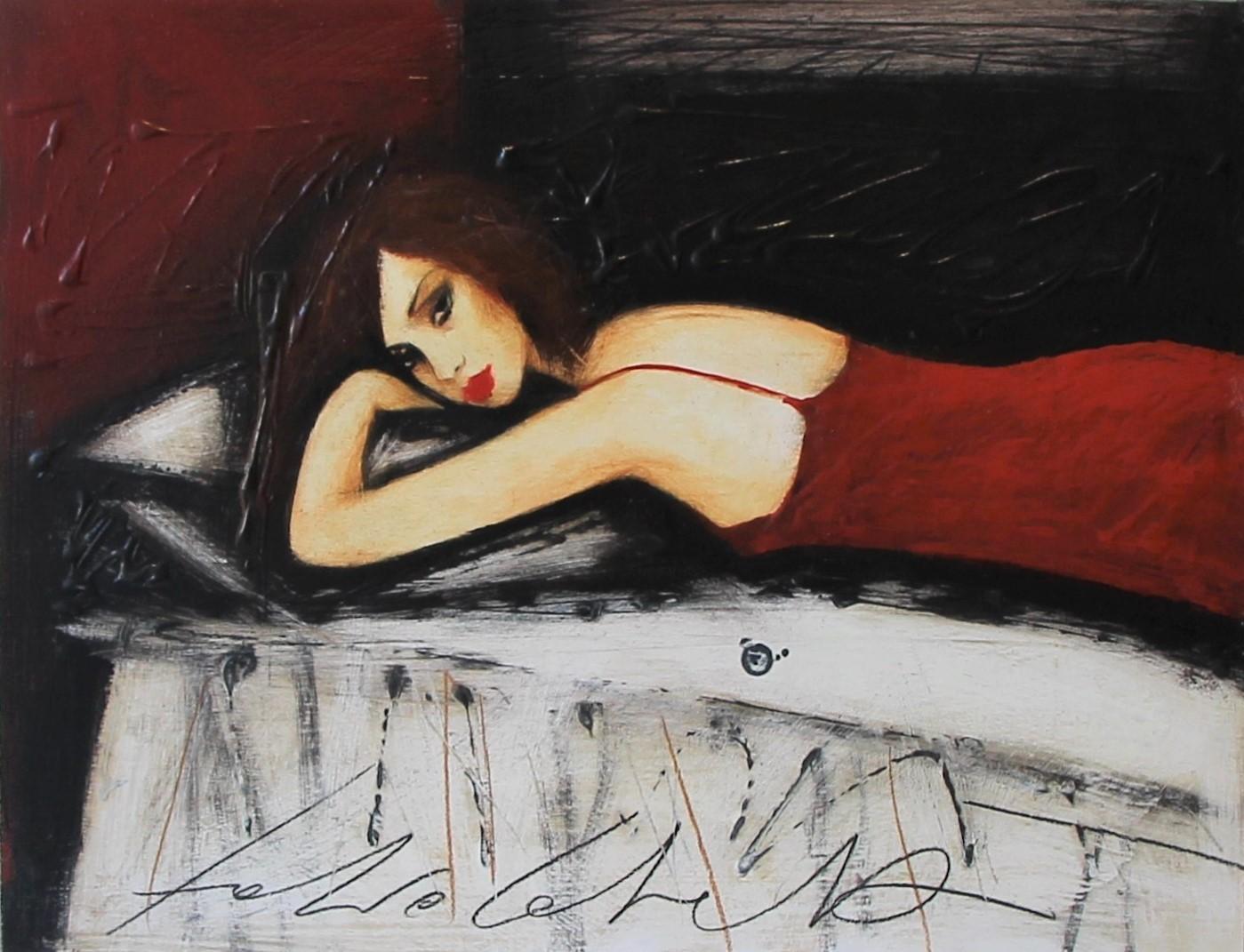 """""""Il tuo silenzio"""" dipinto su tavola cm. 33x43"""