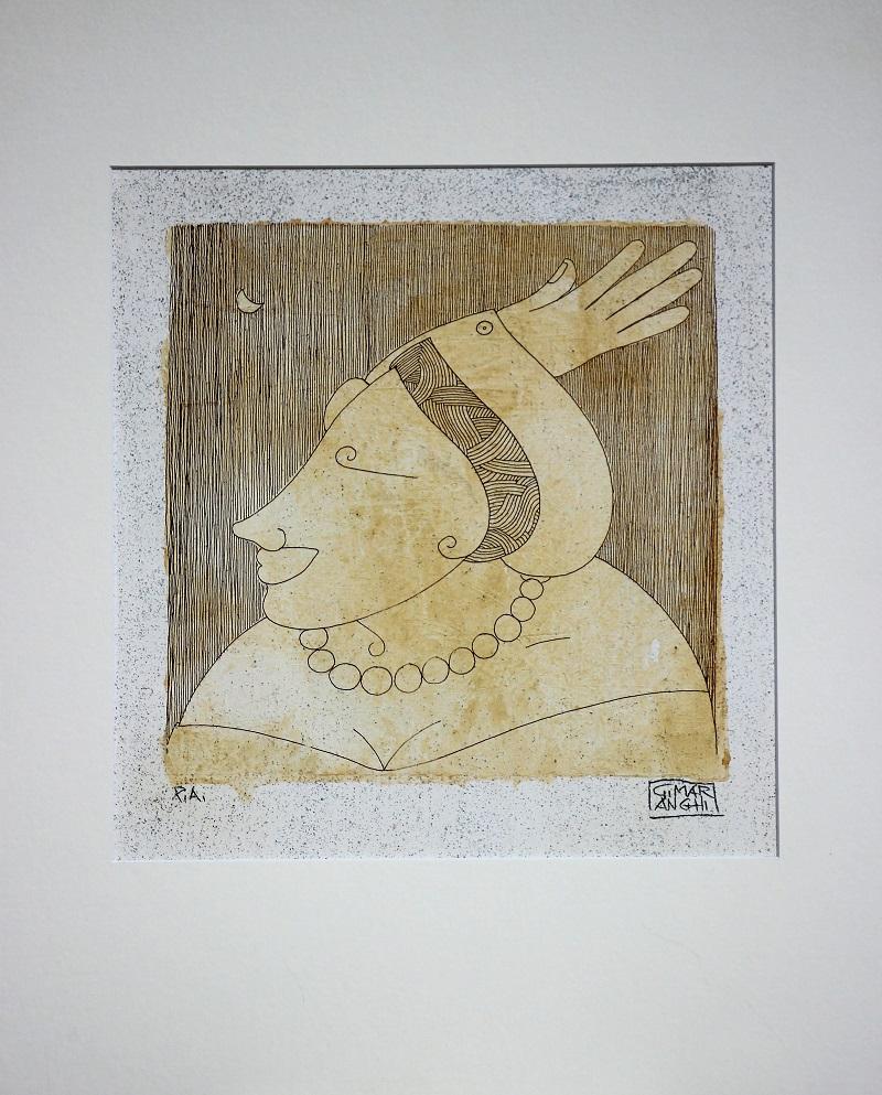 """""""Ambizioni"""" serigrafia polimaterica prova d'autore cm. 50x40 - 2012"""