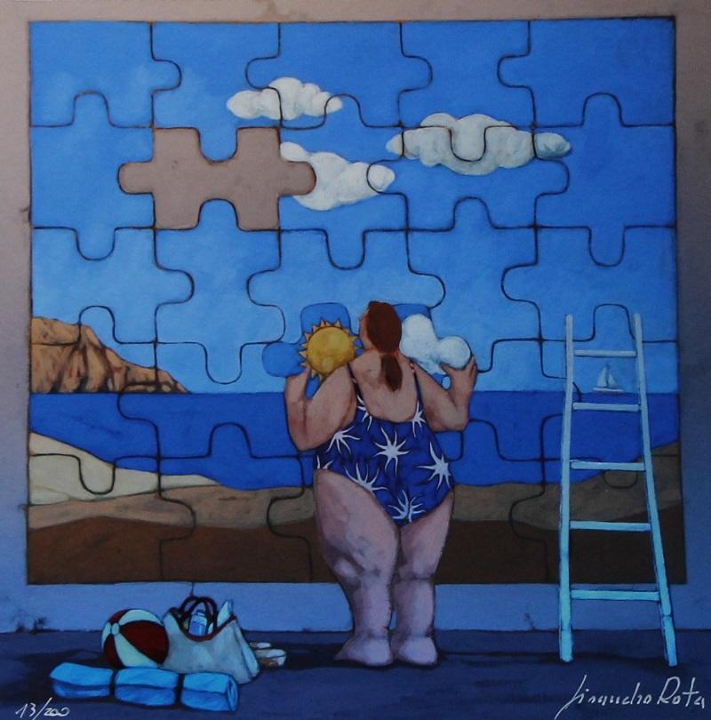 """""""La vita è un puzzle"""" disponibile nei formati 10x10 18x18 30x30 50x50"""