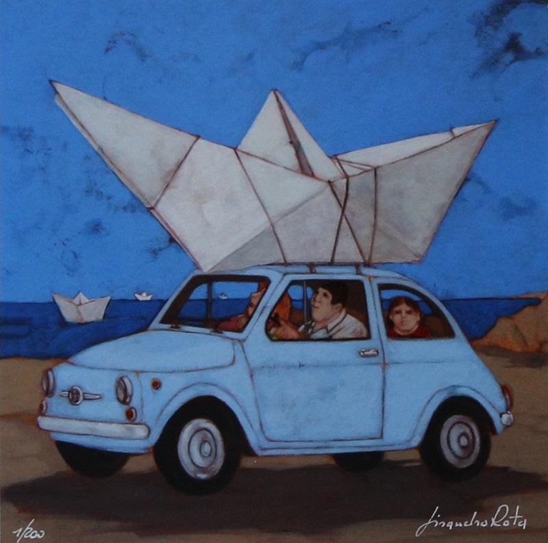 """""""Mi sono fatto la barca"""" disponibile nei formati 10x10 18x18 30x30 50x50"""