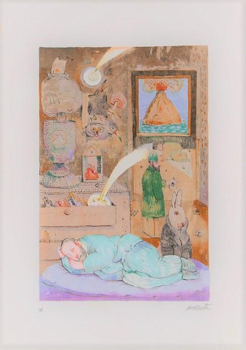 """""""Stanza dei sogni"""" litografia cm. 50x35"""