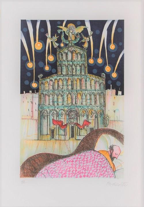 """""""Sogni in città"""" litografia cm. 50x35"""