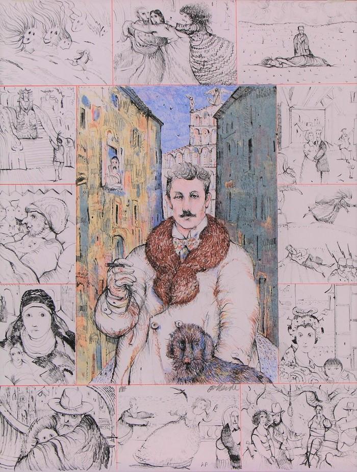 """""""Opere Puccini"""" litografia cm. 45x35"""