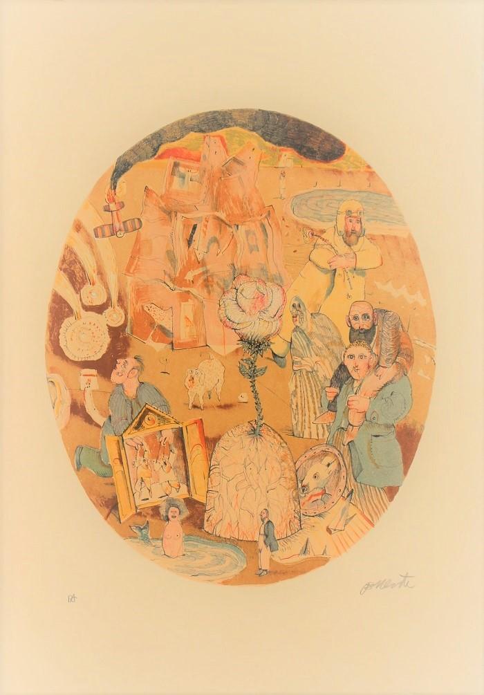 """Naufragio"" litografia cm. 50x35"
