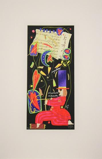 """""""Sagittario"""" serigrafia materica cm. 35x16"""