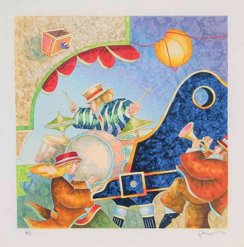 """Improvvisazione"" serigrafia polimaterica cm. 35x35"