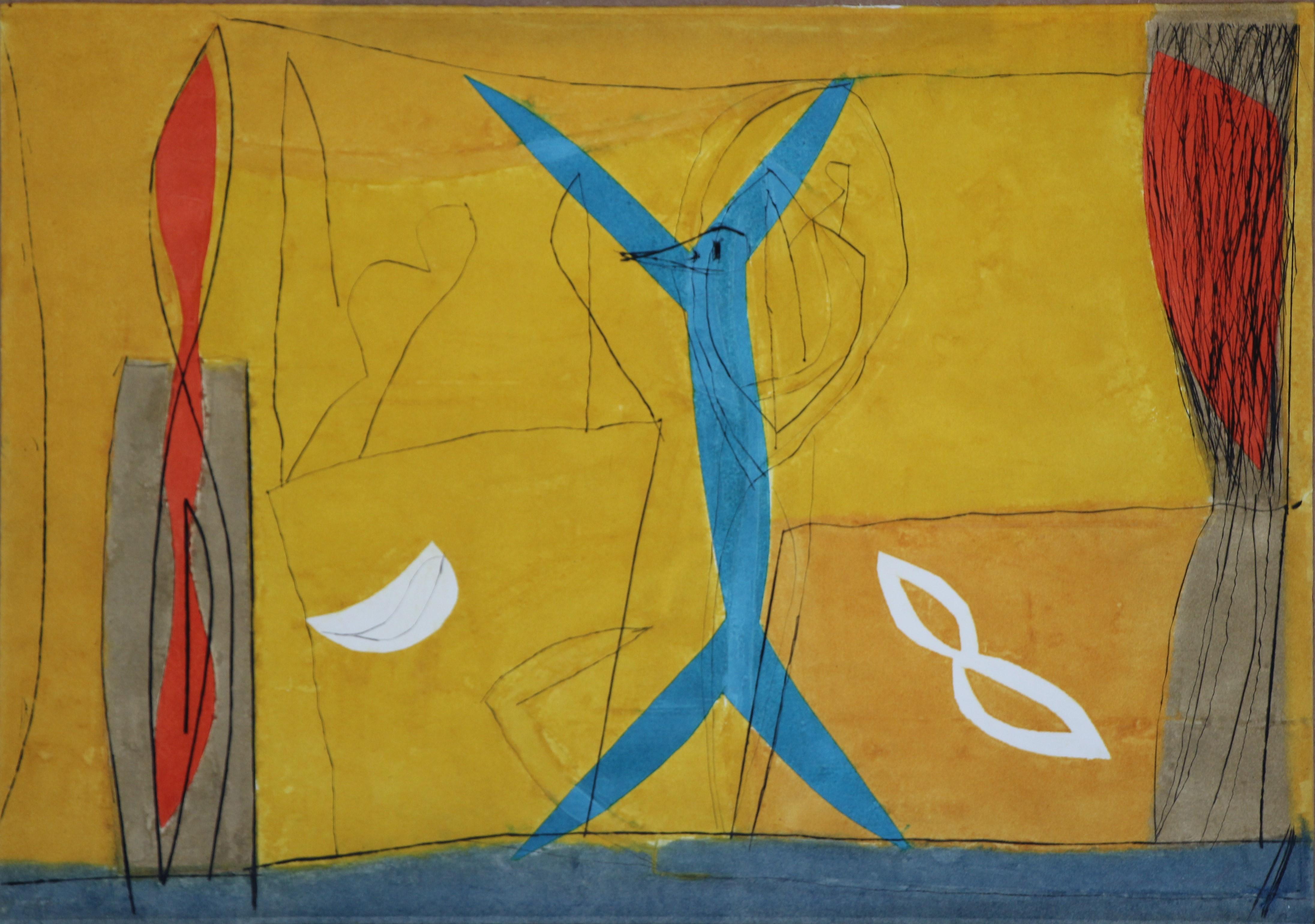 """""""Primizie del deserto"""" acquaforte acquatinta cm. 70x100"""