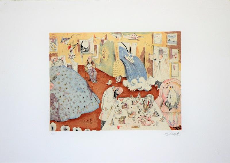"""""""La casa del marinaio"""" litografia cm. 50x70"""