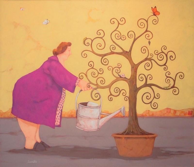 """""""Lalbero della vita"""" dipinto su tela cm. 60x70"""
