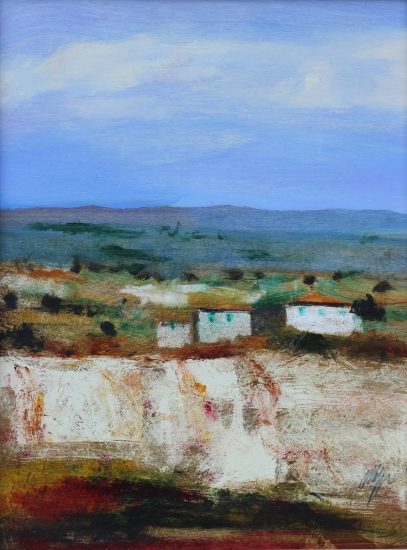 """Le Balze di Volterra"" dipinto su tavola cm. 40x30"
