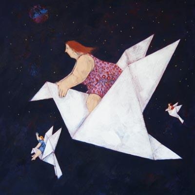 """""""Le casalinghe adorano volare"""" disponibili nei formati 10x10  18x18   30x30  50x50"""