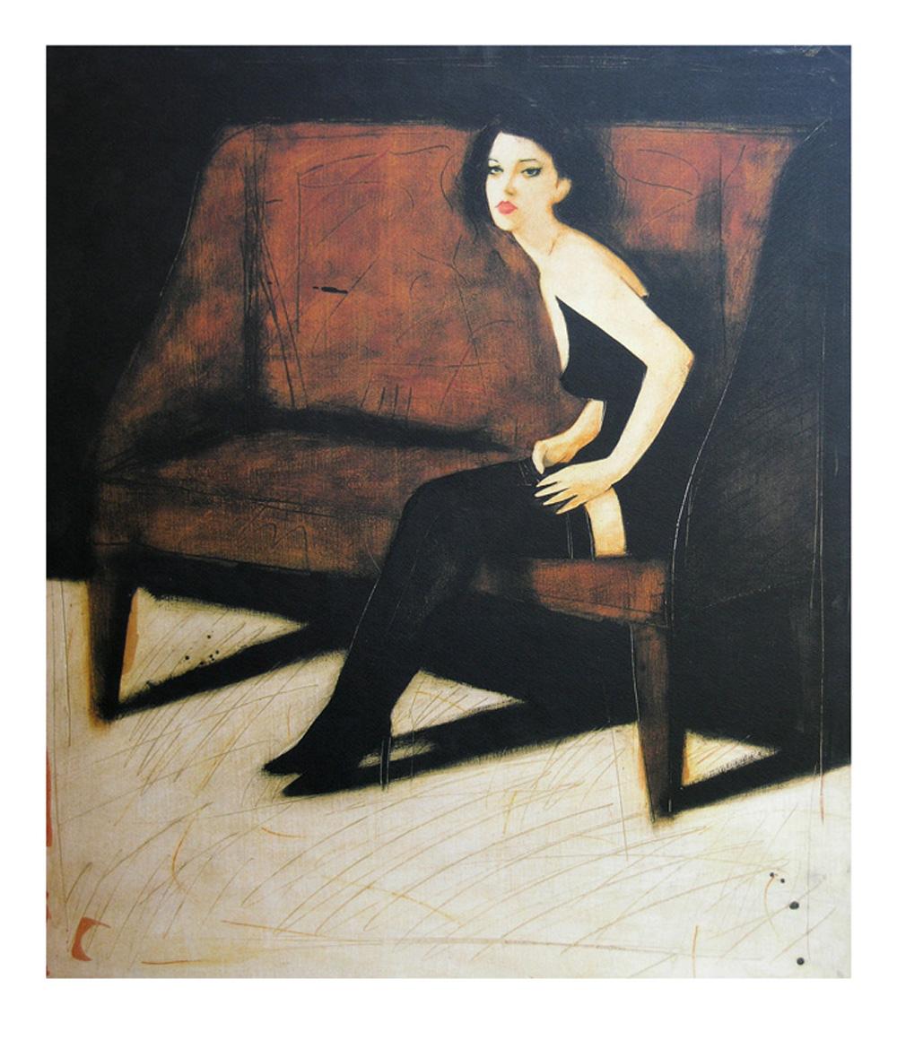 """""""Sogno segreto"""" litografia 5 colori cm. 90x70"""