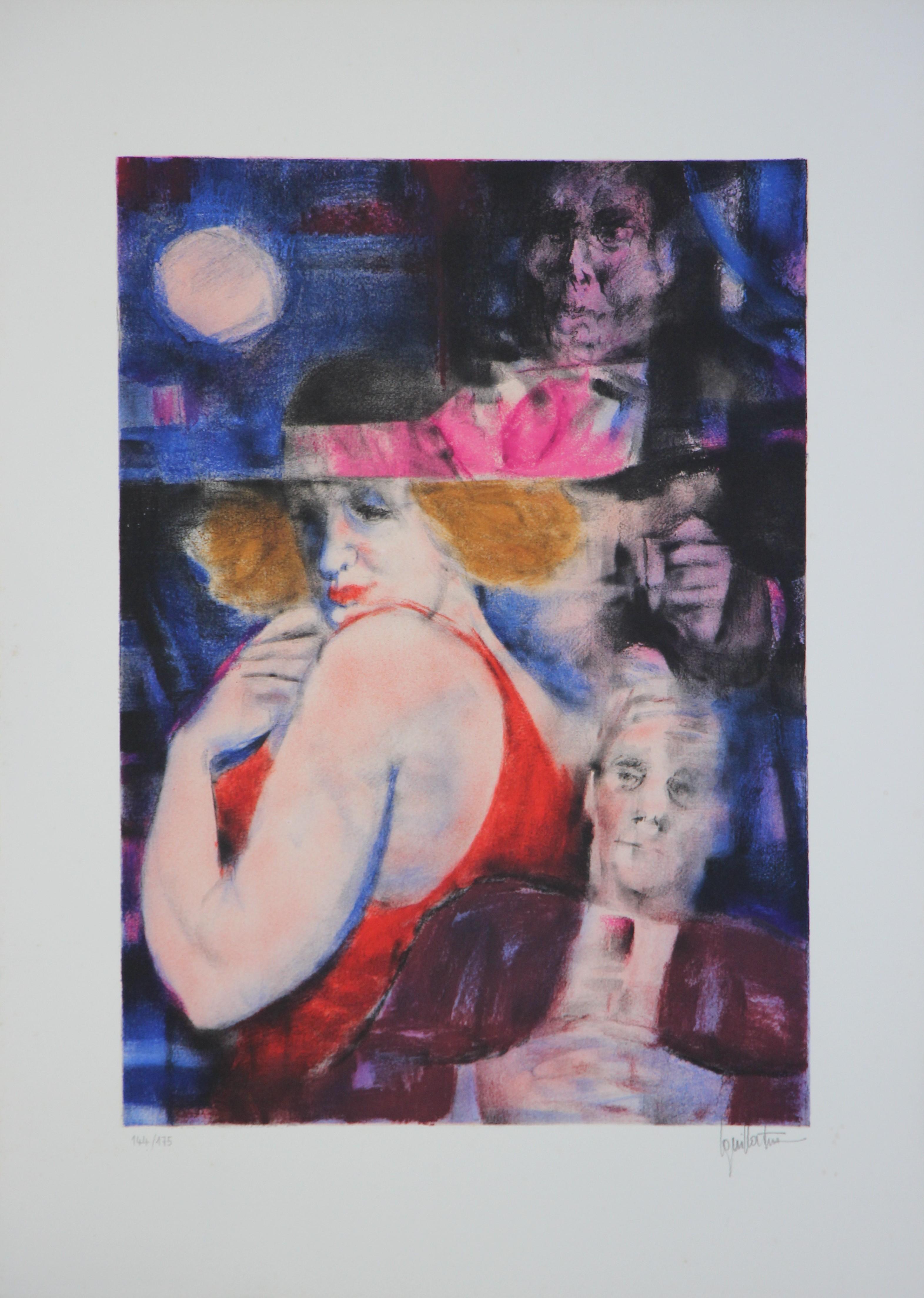 """La vamp"" litografia  cm. 50x70"