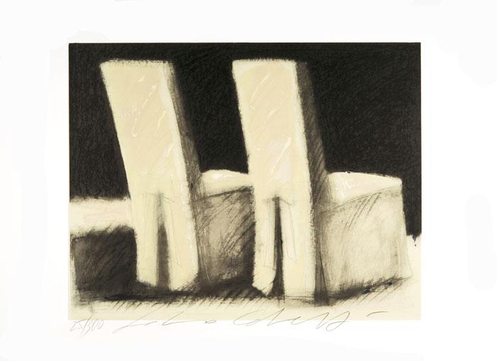 """""""Attese"""" litografia a 8 colori cm. 60x80"""