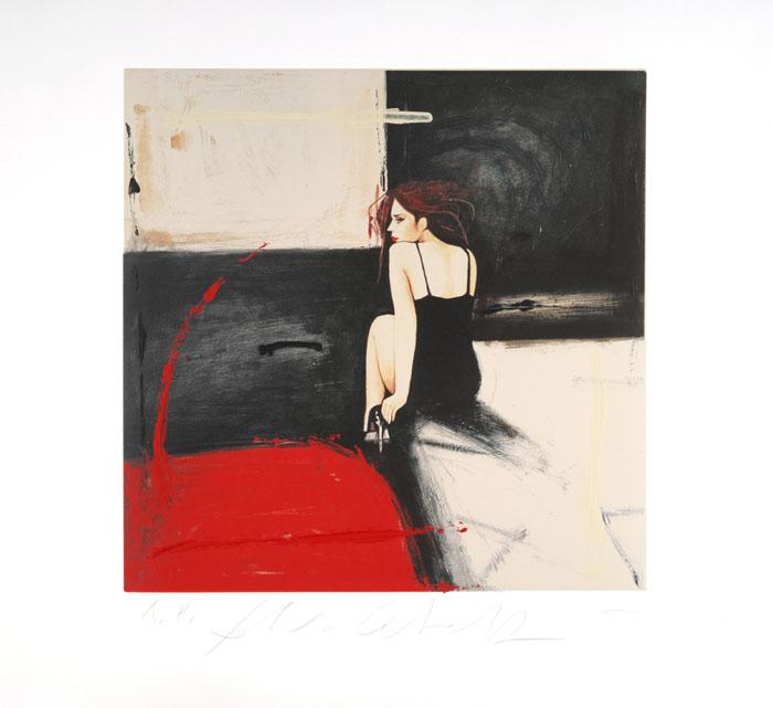 """""""Il resto è qui"""" litografia a colori cm. 67x67"""