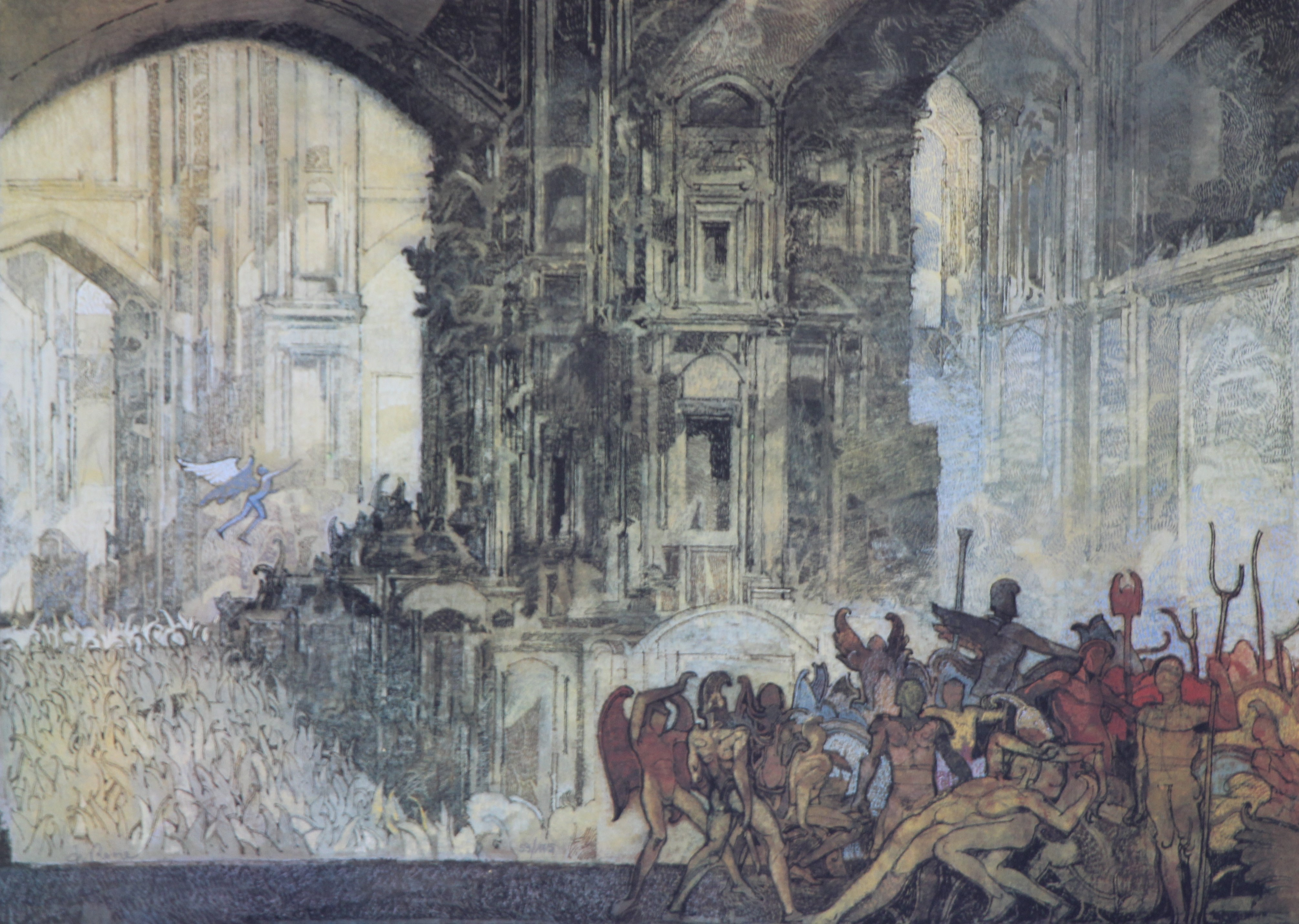 """""""Battaglia"""" litografia cm. 50x70"""