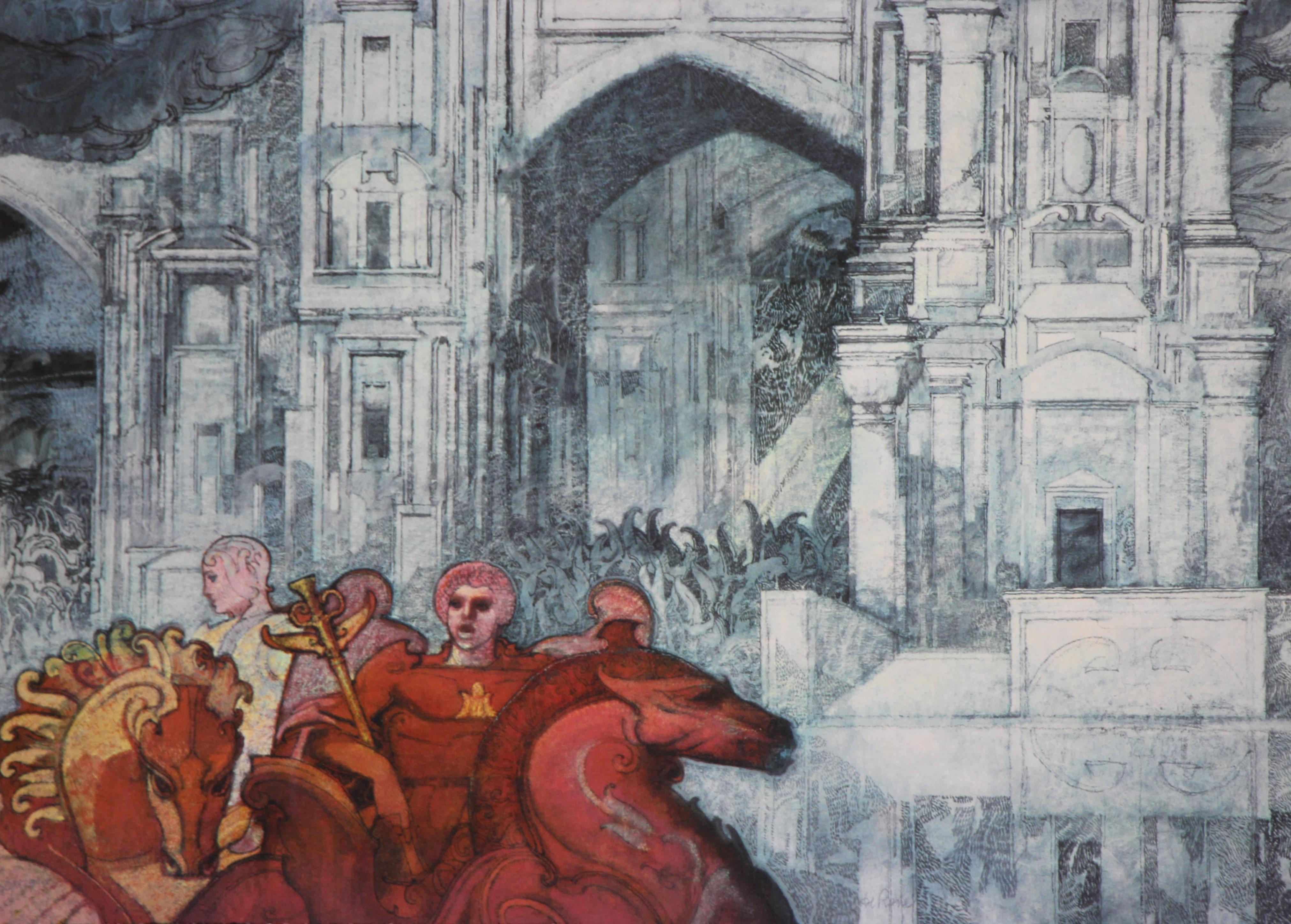 """""""Cattedrale"""" litografia cm. 50x70"""