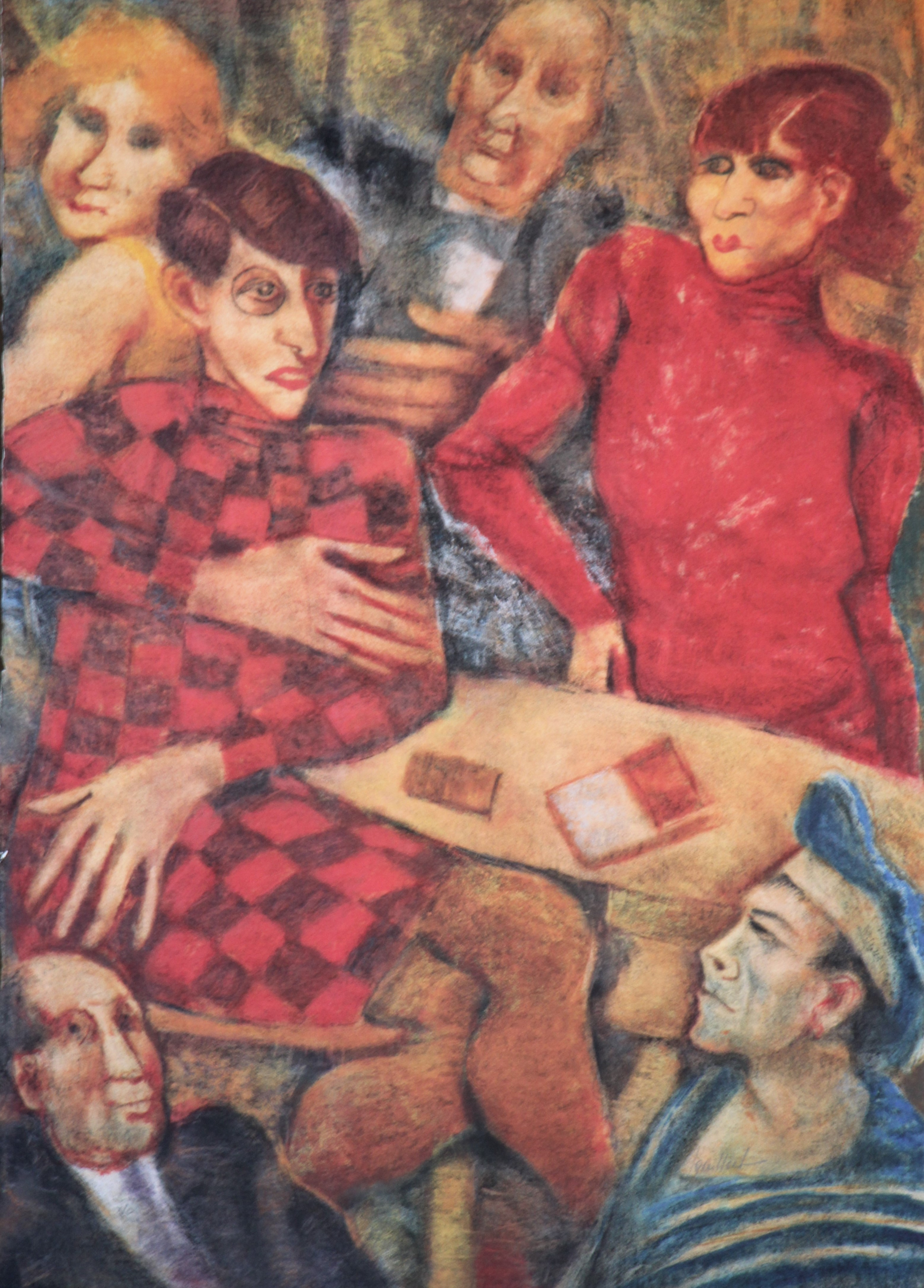 """""""Omaggio a Otto Dix"""" litografia  cm. 70x50"""
