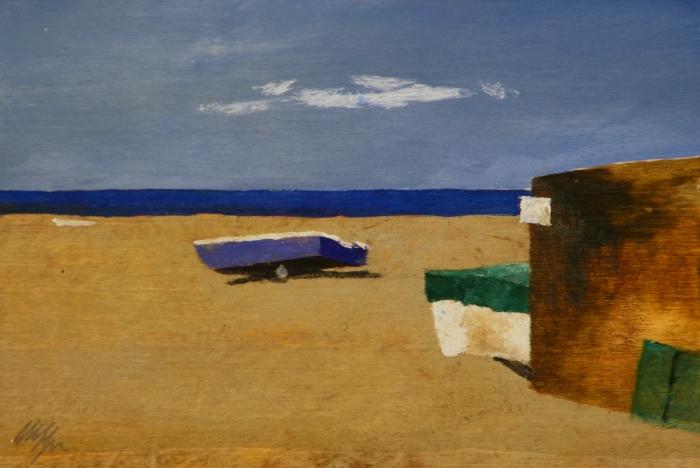 """Marina"" dipinto su tavola cm. 30x20"