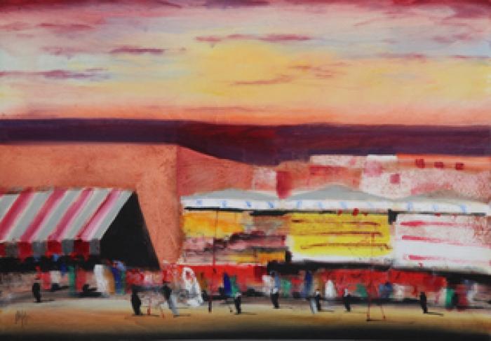 """""""Marrakech"""" dipinto su tavola cm. 100x70"""