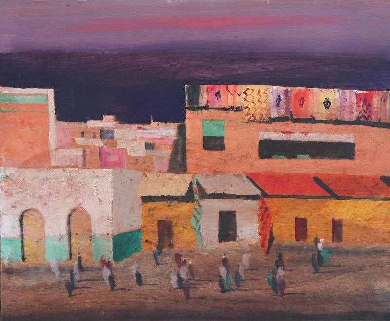 """Marrakech"" olio su tavola cm 50x60"