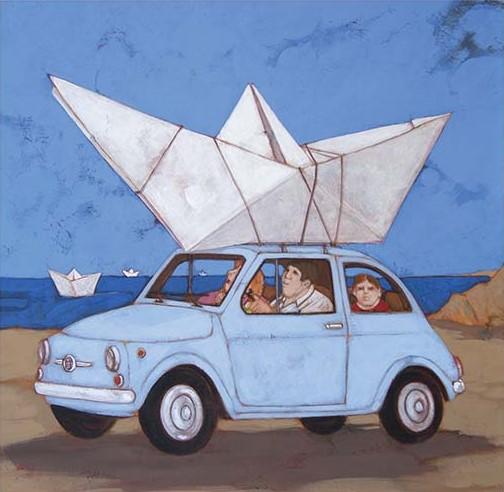 """""""Qust'anno ci siamo fatti la barca"""" disponibile nei formati 10x10 18x18  30x30"""