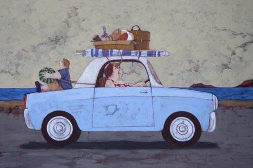 """""""Oggi picnic sul mare"""" disponibili nei formati  12x18  25x35  50x70"""