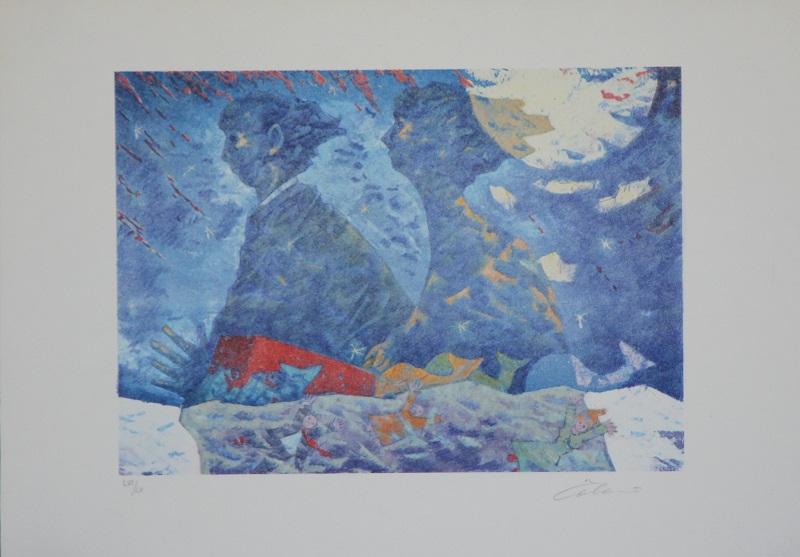 """""""Ombre marine"""" litografia cm. 35x50"""