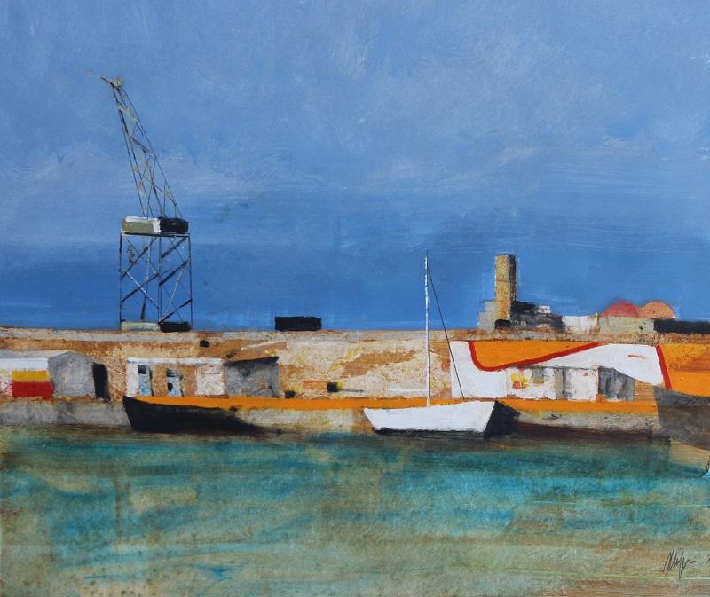 """""""Porto di Palermo"""" olio su tavola cm. 50x60"""