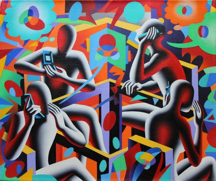 """Quadraphonia"" dipinto su tela  cm. 50x60"