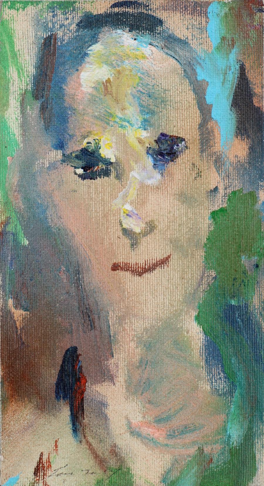 """""""Ritratto"""" olio su tela cm. 22x12 - 1997"""