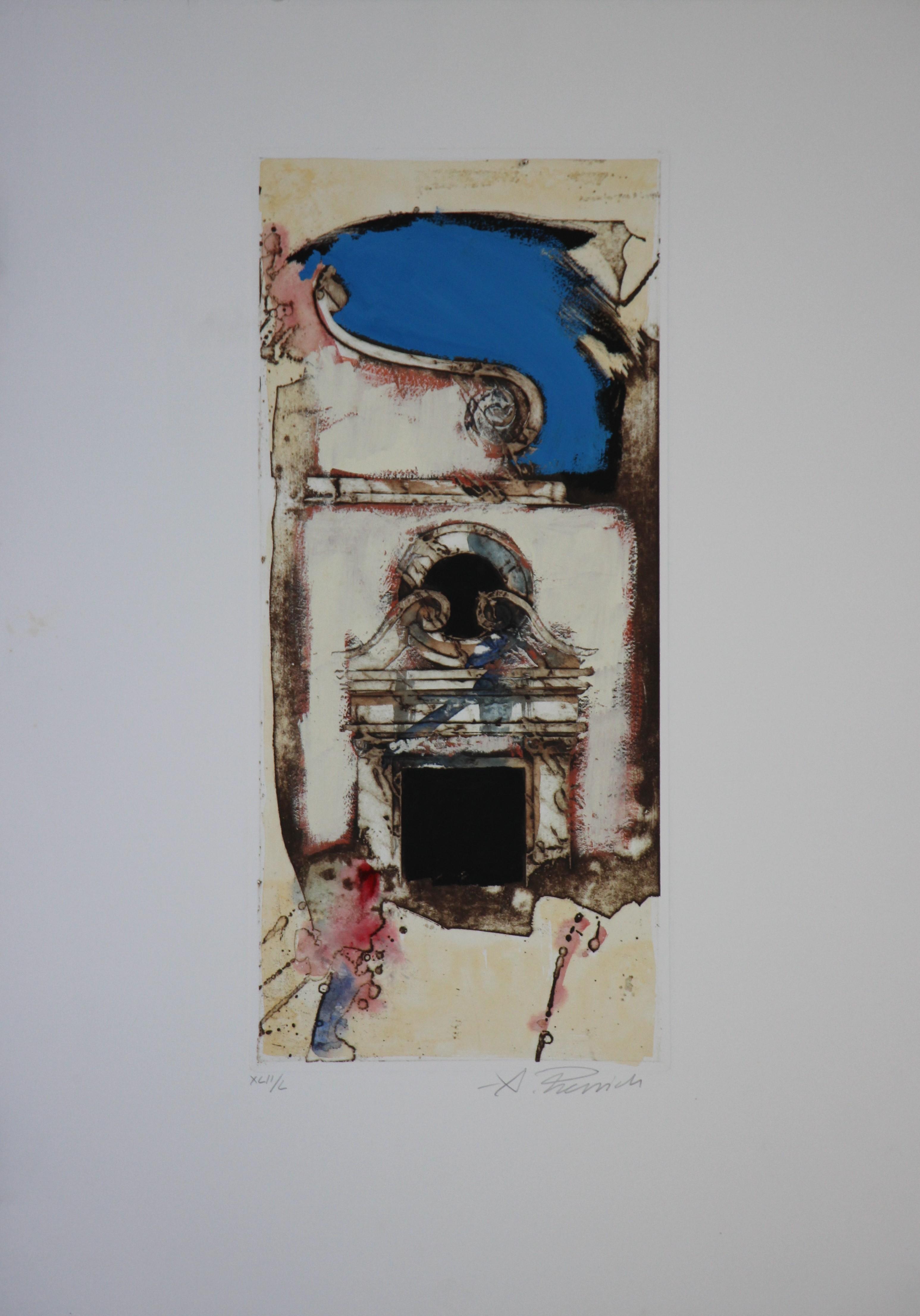 """""""Architettura 1"""" serigrafia polimaterica  cm. 50x70"""