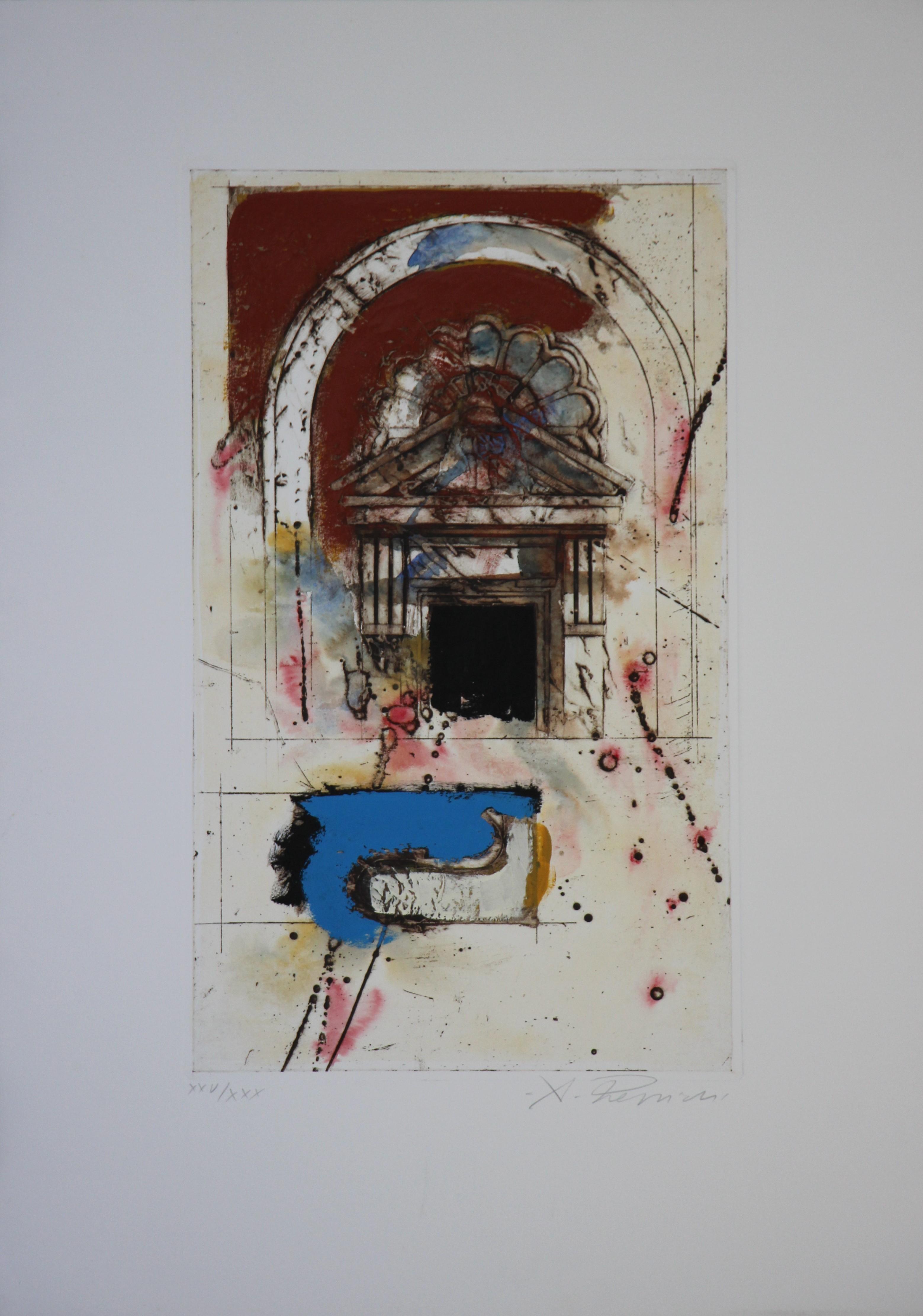 """""""Architettura 2"""" serigrafia polimaterica cm. 50x70"""