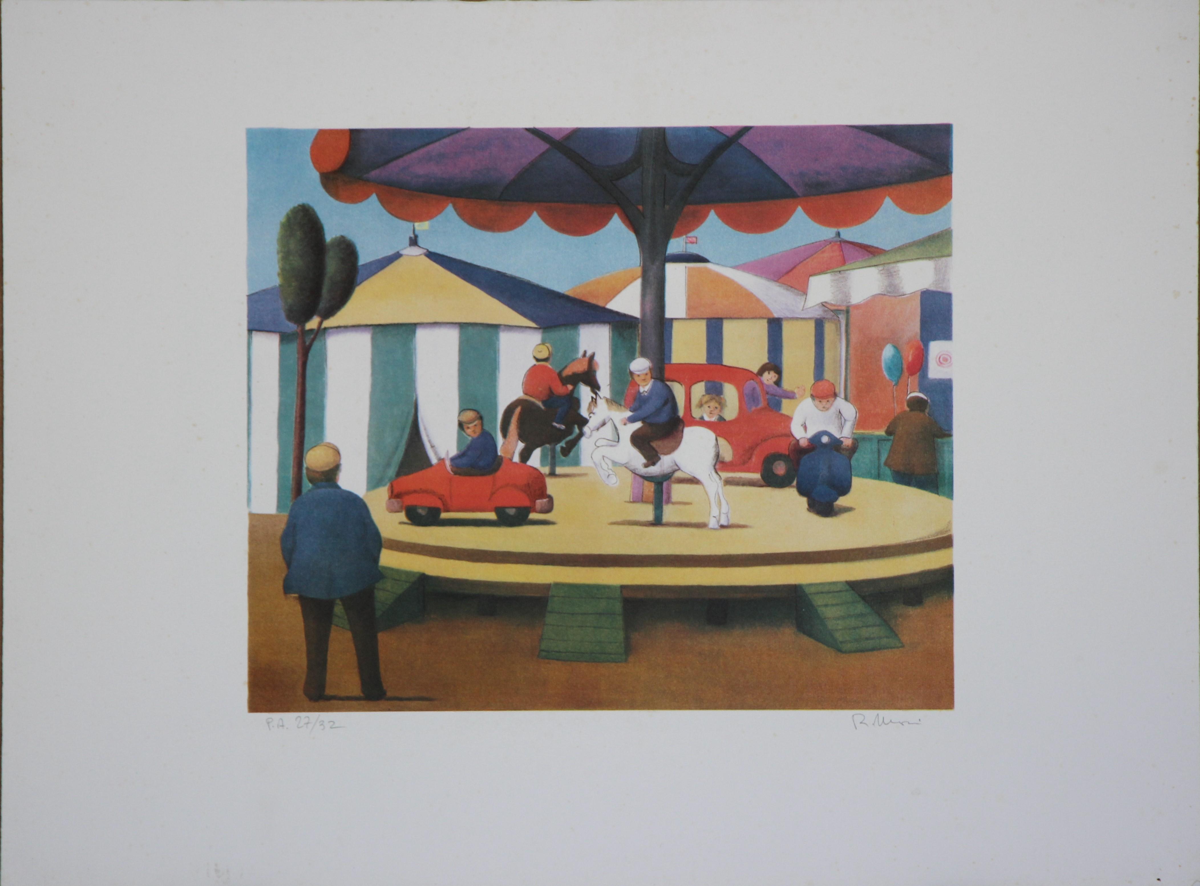 """""""La giostra"""" litografia  cm. 50x70"""